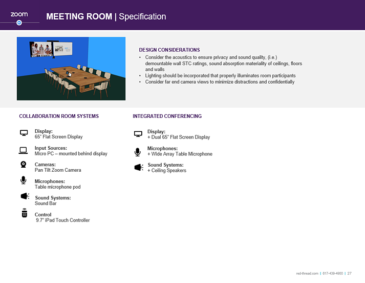 zoom meeting room specification